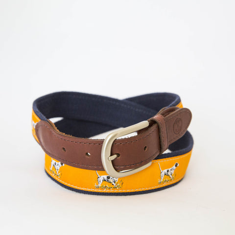 Leather Ribbon Belt - The Original Pointer