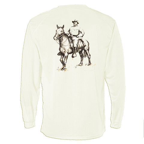 Long Sleeve Pocket Tee - Teddy Roosevelt on Ivory