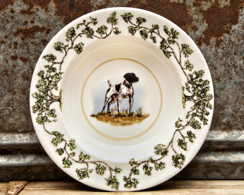 The Plantation China - Bowl German Shorthair