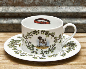 The Plantation China - Cup/Saucer German Shorthair