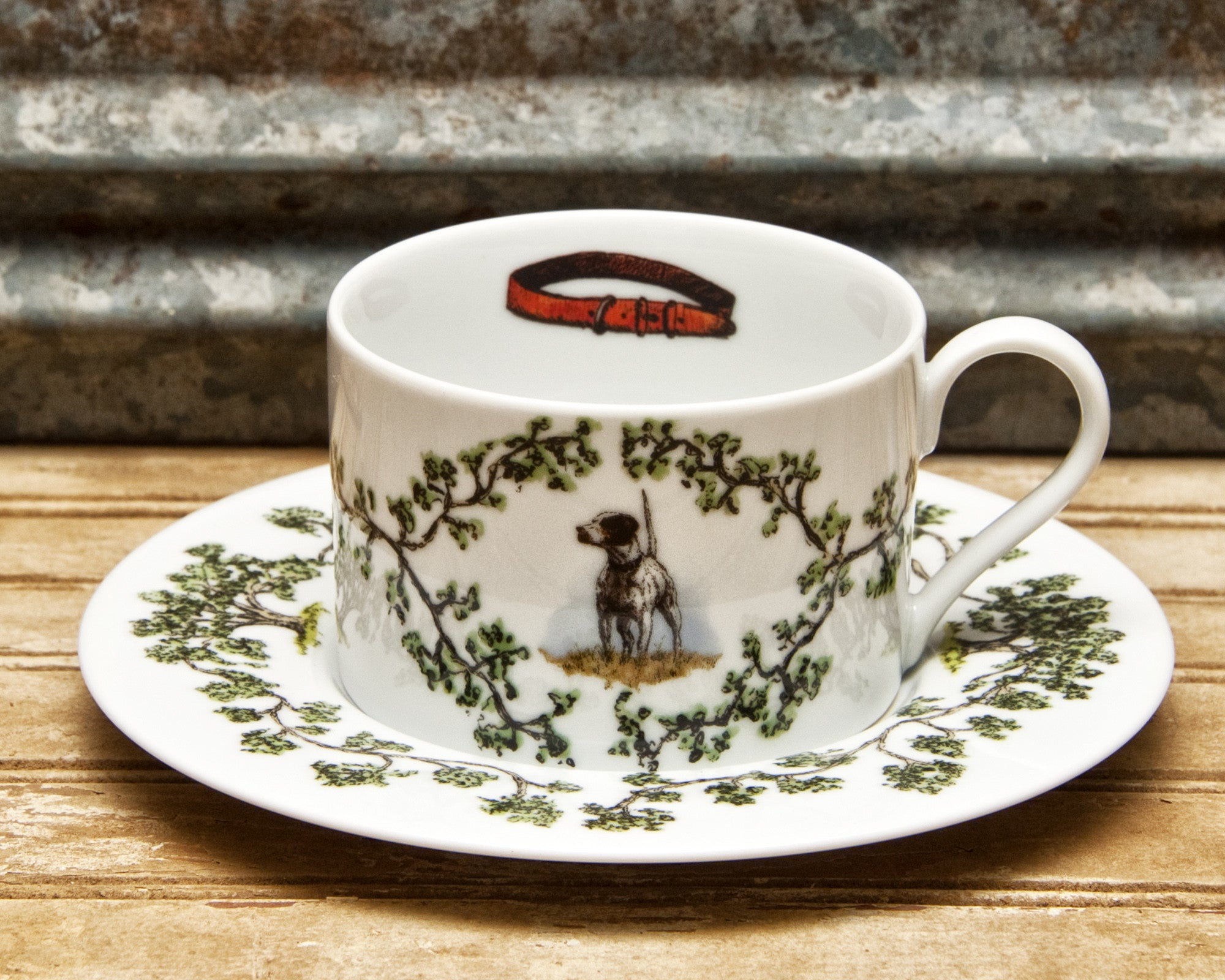 The Plantation China - Cup/Saucer English Pointer