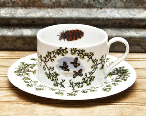 The Plantation China - Cup/Saucer Flushing Quail