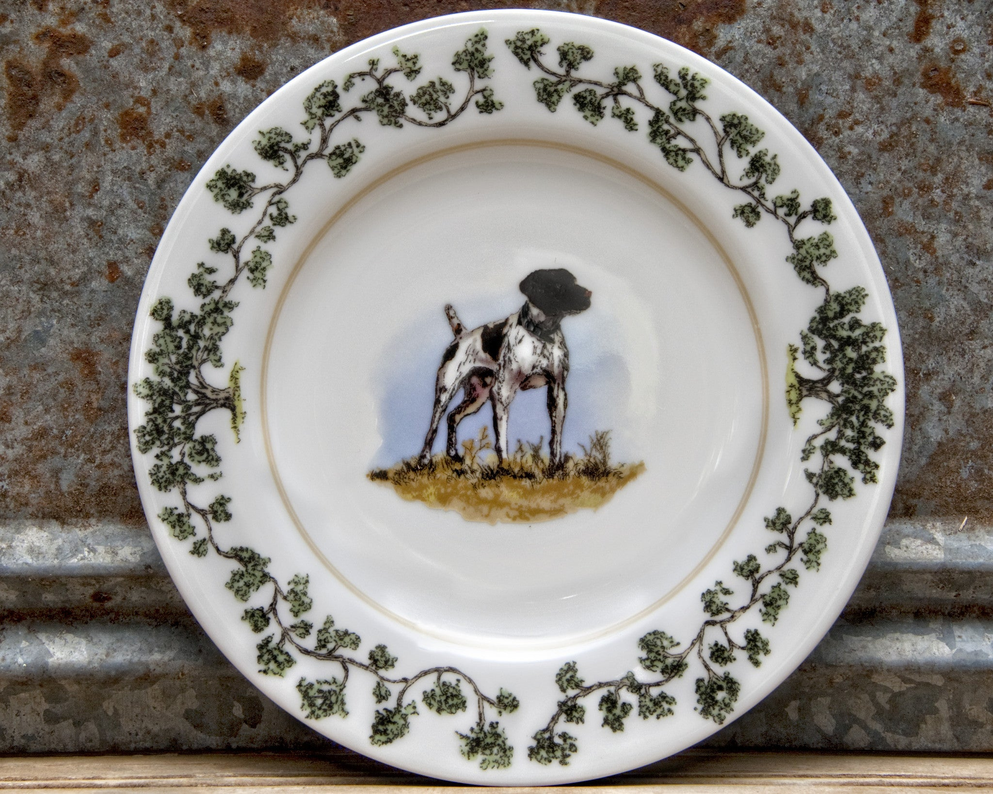 The Plantation China - Salad Plate German Shorthair