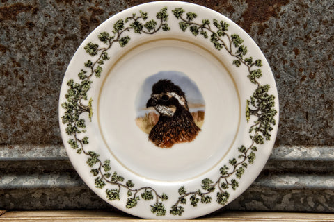 The Plantation China - Salad Plate Quail Head