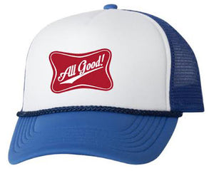 All Good Foam Trucker - White/Royal Blue