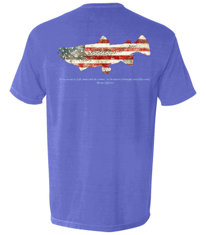 The Patriotic Trout (Flo Blue)
