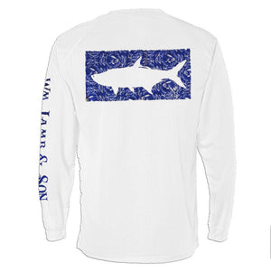 The Grand Slam Tarpon in Blue on White