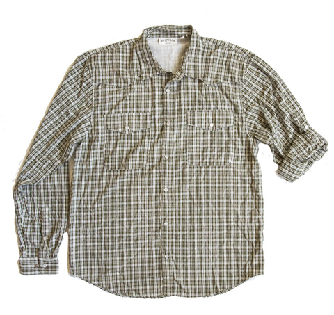 Cache Creek Fishing Shirt - Spruce Plaid Long Sleeve