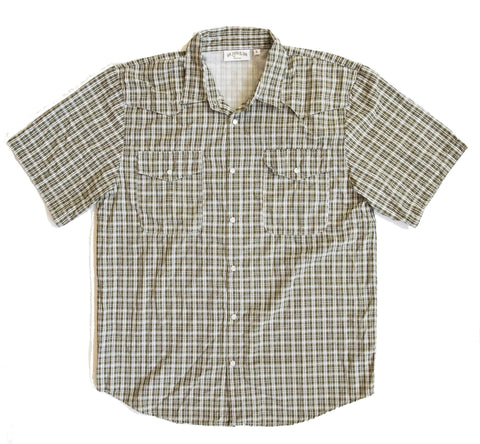 Cache Creek Fishing Shirt - Spruce Plaid Short Sleeve