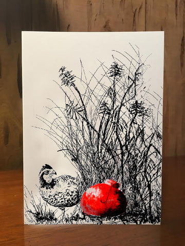 Notecards - Christmas Quail