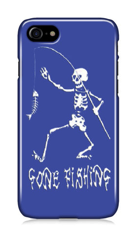 iPhone case - Gone Fishing Blue