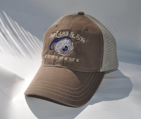 Ball Cap - WLS Oyster on  Brown/Tan Mesh