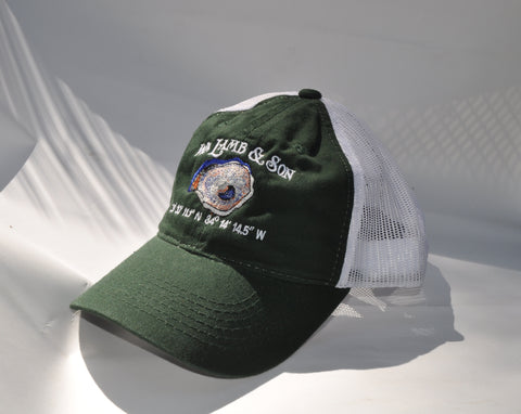 Ball Cap - WLS Oyster on Green/White Mesh