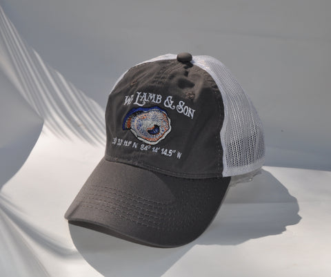 Ball Cap - WLS Oyster on Charcoal/White Mesh