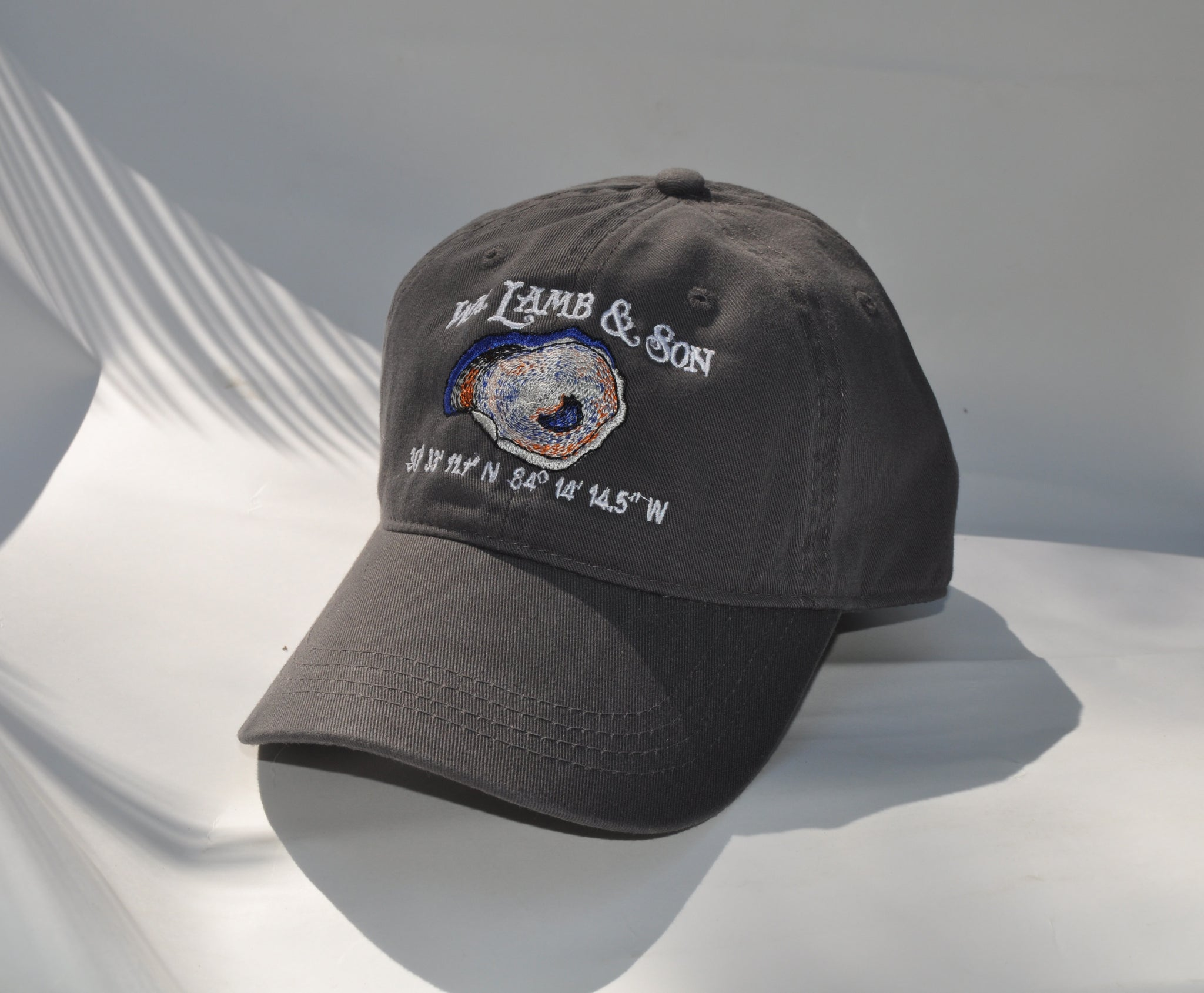 Ball Cap - WLS Oyster on Grey Twill