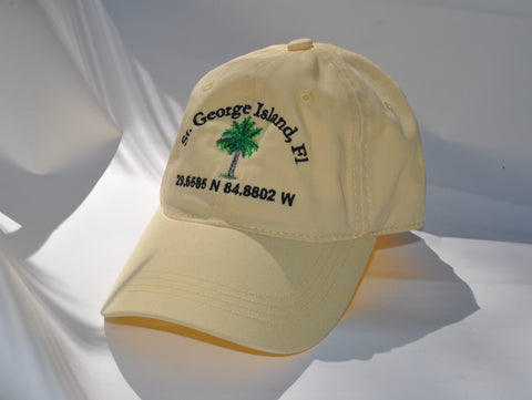 Ball Cap - St. George PalmTree on Light Yellow Twill