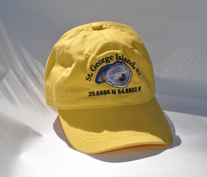 Ball Cap - St. George Island Oyster on Yellow Twill
