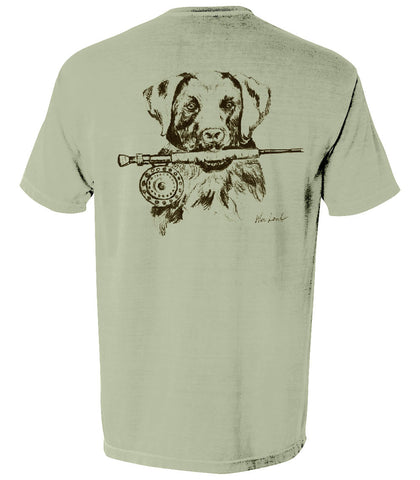 The Lab and Rod Tee - A Dog's Life Collection