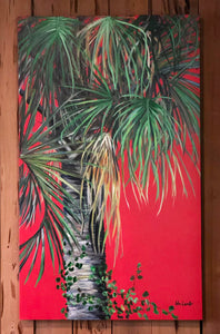 Large Red Palm