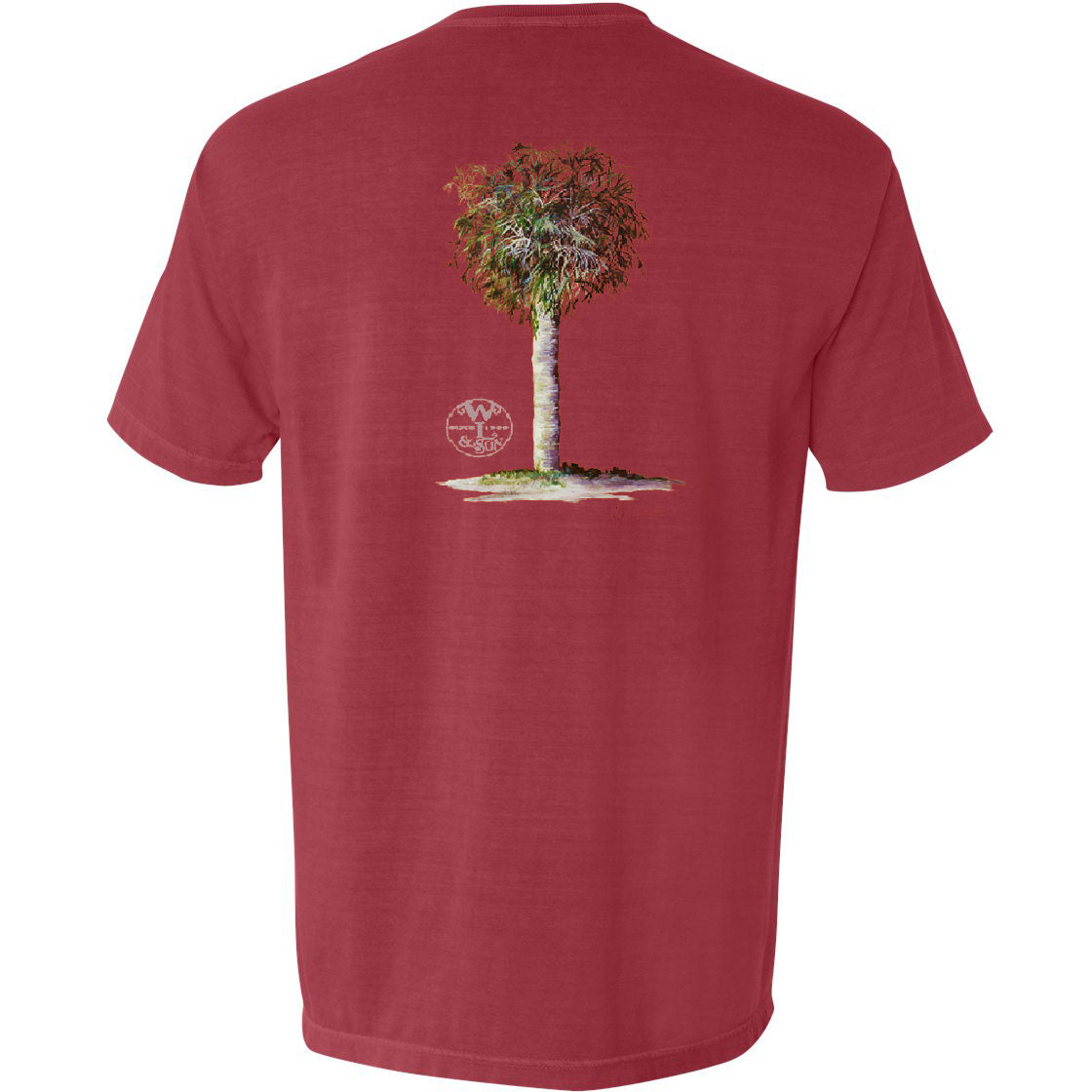 The Palm Tree Tee (Crimson)