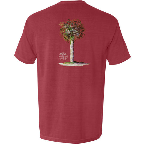 The Palm Tree Tee (Crimson) - The Coastal Collection