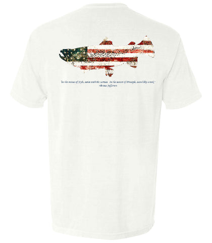 The Patriotic Trout (White) - The Patriotic Collection