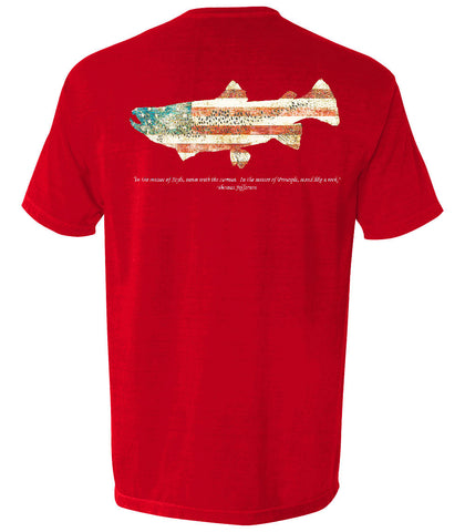 The Patriotic Trout (Red)