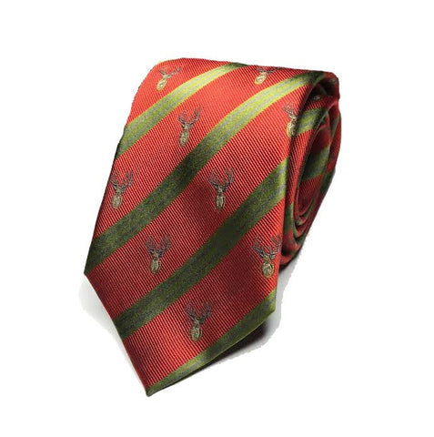 Neck Tie - Mooreland Stag Neck (Red)