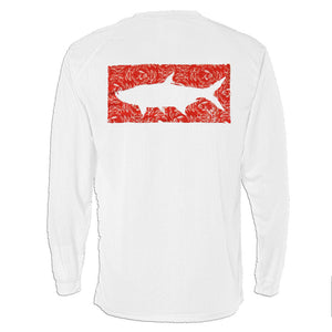 The Grand Slam Tarpon in Red on White