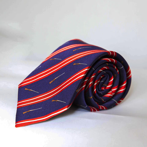 Neck Tie - Side by Side (Blue/Red)