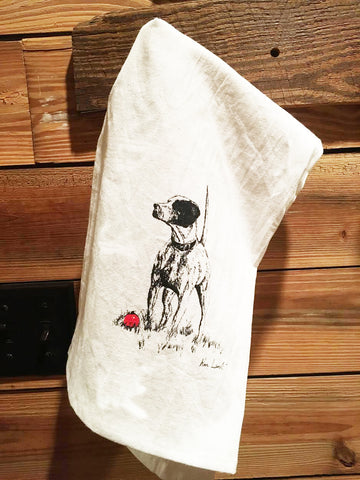 Christmas Pointer Dish Towel