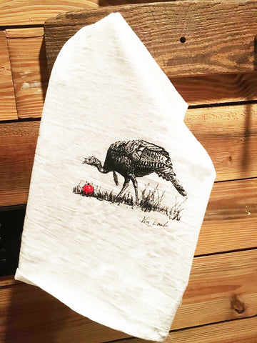 Christmas Turkey Dish Towel