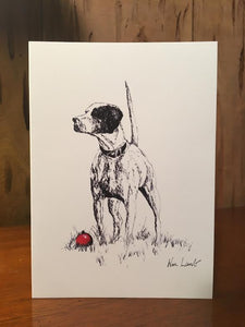 Notecards - Christmas Pointer