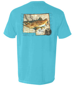 The Western Trout Tee (Sapphire)