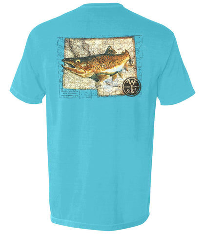 The Western Trout Tee (Sapphire) - The Trout Collection