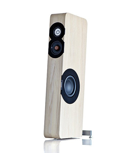 All That Audio's Boenicke W8 in white ash with standard feet.