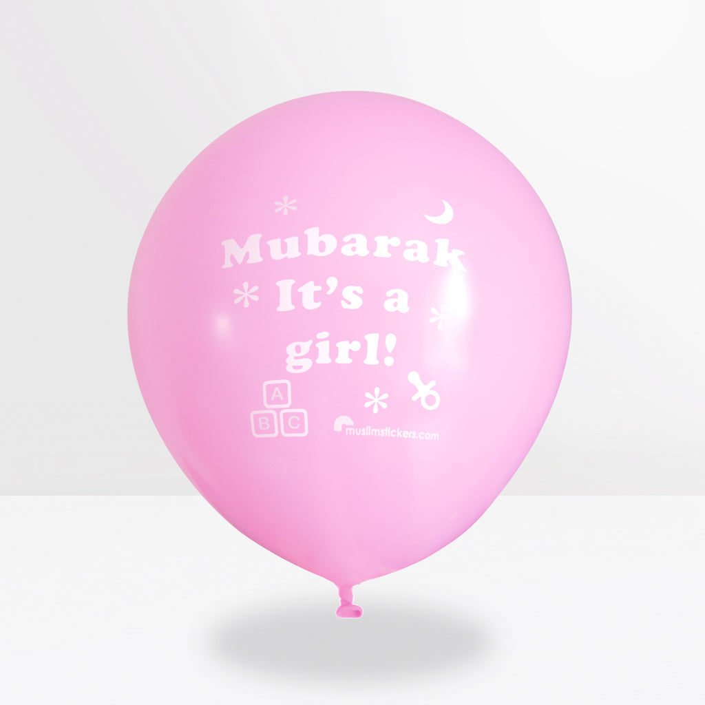 Mubarak it´ a girl Luftballon