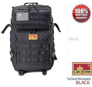 In-USA: CAN SWISS Tactical Backpack Military Field Pack Unisex Backpack Comfortable Lightweight Design (Black): Sports & Outdoors