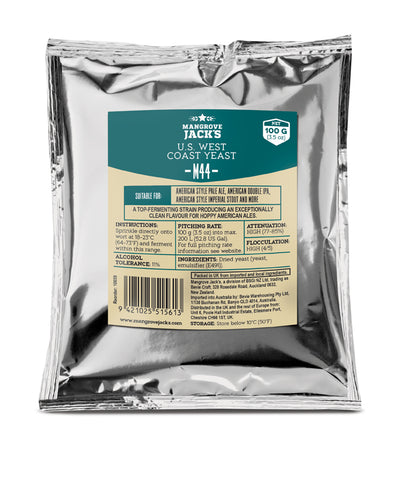 Mangrove Jack's M44 US West Coast Yeast - (3.5 oz) 100g
