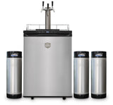 Triple Tap Kegerator with 3 kegs