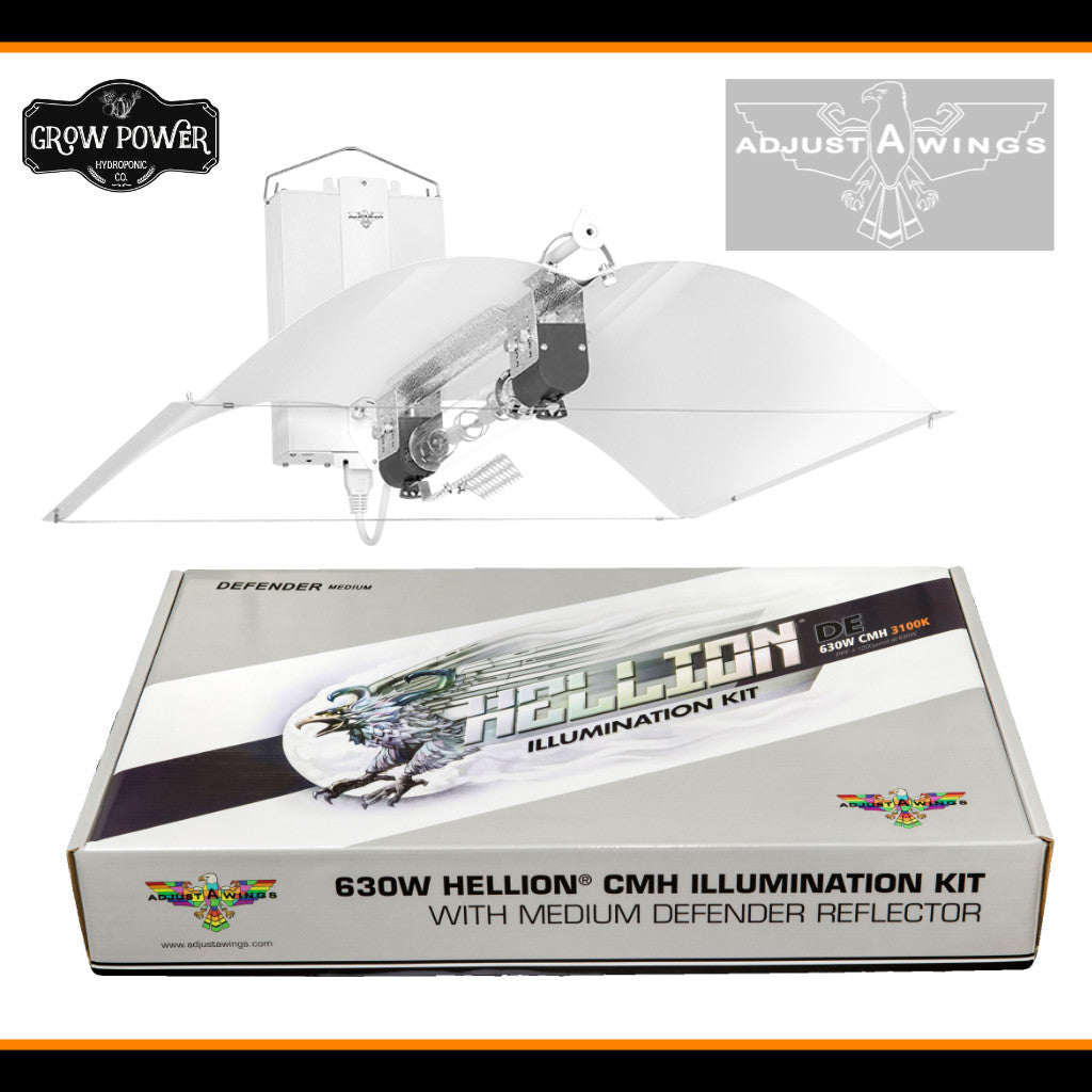 Adjust-A-Wings 630W DE-CMH Hellion Lighting Kit - Grow Power Hydroponics