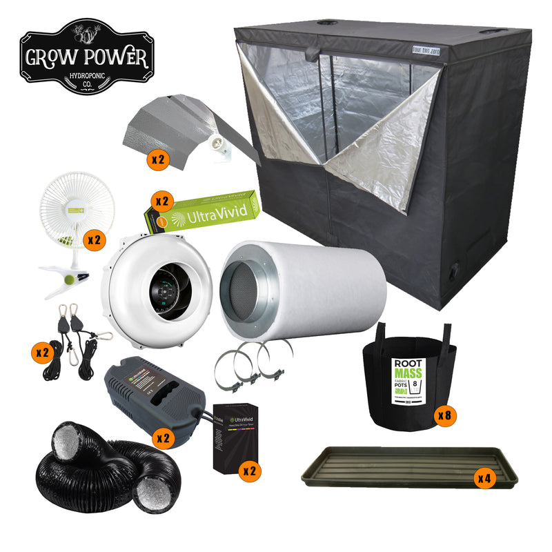Complete Grow Room Kit - Budget or New Grower - Medium - 4-8 Plants - Grow Power Hydroponics