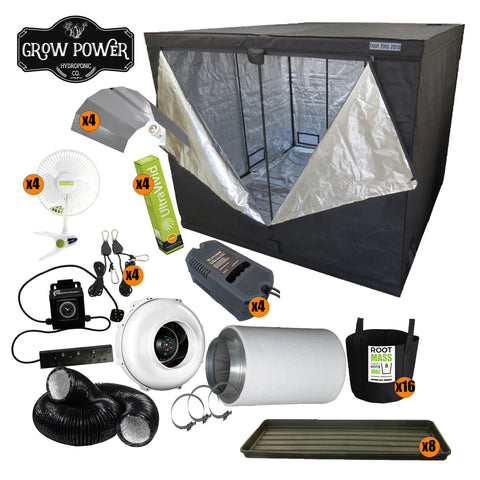Complete Grow Room Kit - Budget or New Grower (BoNG) - Large - 8 - 16 Plants - Grow Power Hydroponics
