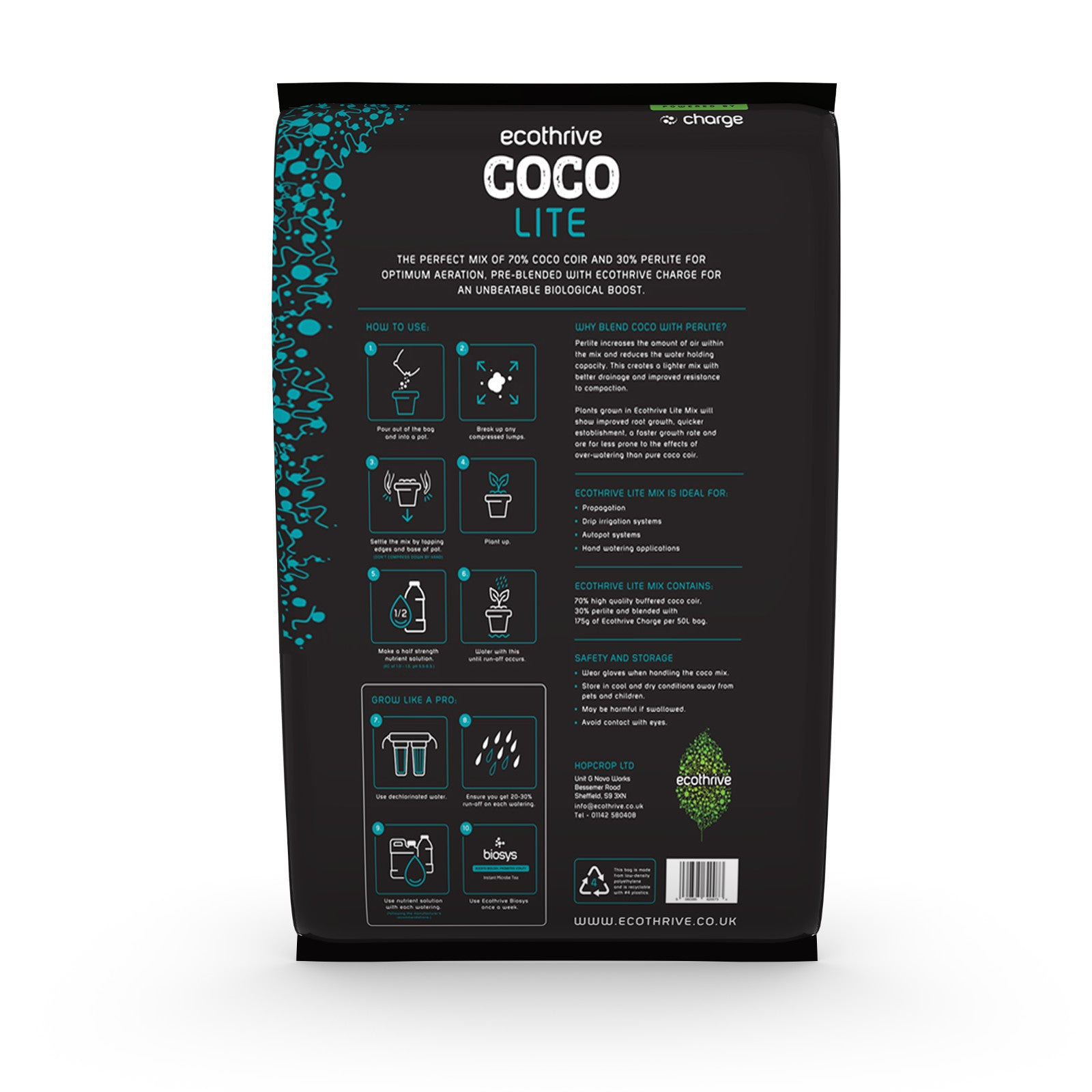 Ecothrive Coco Lite Mix 50 L - Grow Power Hydroponics