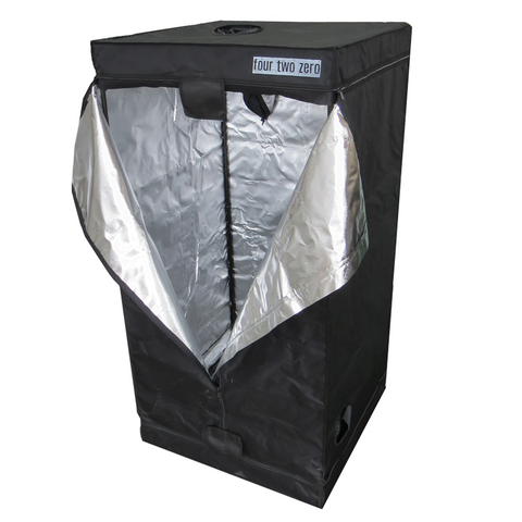 Four Two Zero, 0.8m x 0.8m x 1.6m Budget Grow Tent - Grow Power Hydroponics