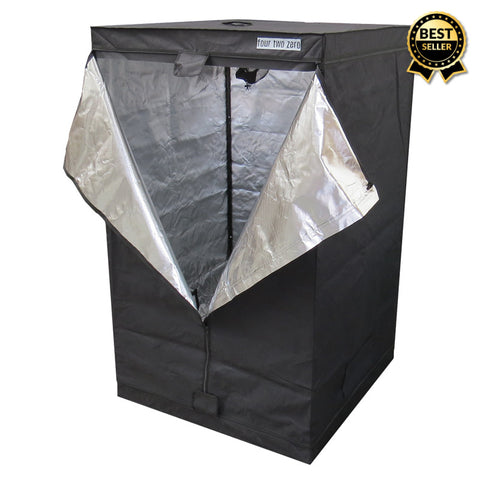 Four Two Zero, 1.2m x 1.2m x 2.0m, Budget Grow Tent - Grow Power Hydroponics