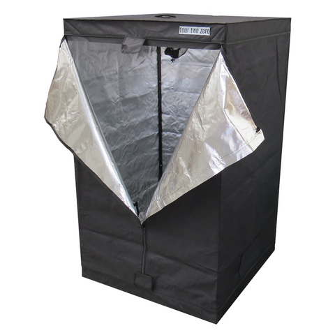 Four Two Zero, 1.5m x 1.5m x 2.0m, Budget Grow Tent - Grow Power Hydroponics