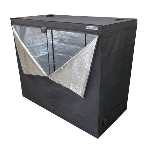 Four Two Zero, 2.4m x 1.2m x 2.0m, Budget Grow Tent - Grow Power Hydroponics