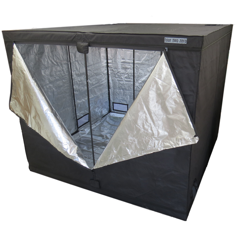Four Two Zero, 2.4m x 2.4m x 2.0m, Budget Grow Tent - Grow Power Hydroponics