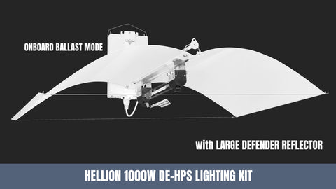 Adjust-A-Wings 1000-1100W HPS, DE Hellion Lighting System - Grow Power Hydroponics